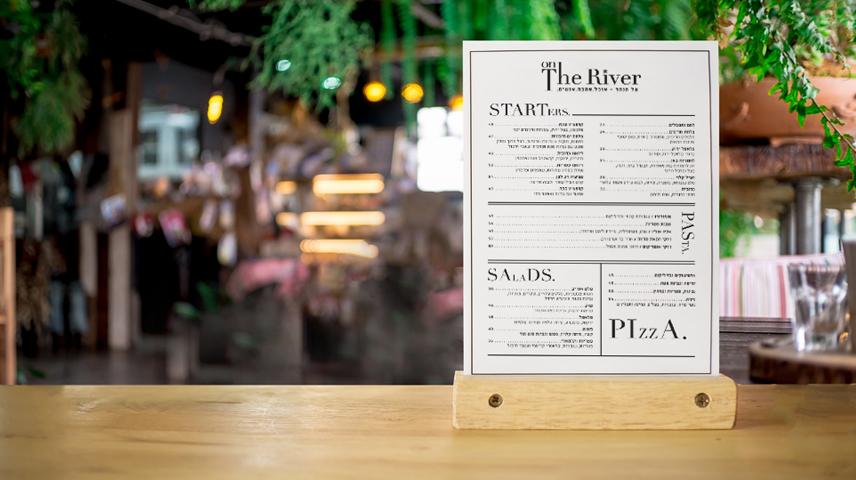 עיצוב תפריט, מיתוג מסעדת על הנהר
