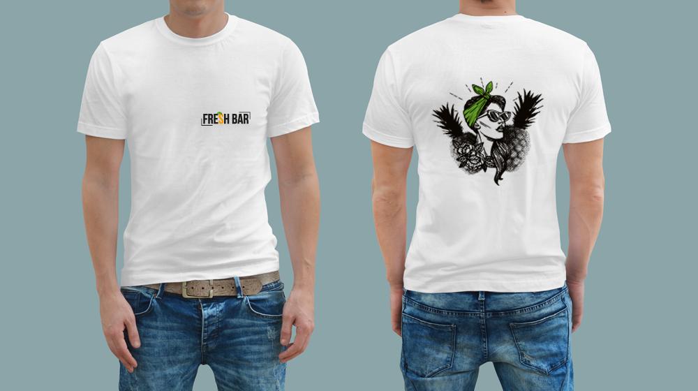 עיצוב הדפס לחולצות דוכן מיצים פרש בר