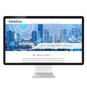 עיצוב אתר לחברת intelics